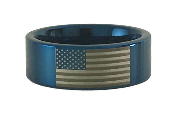 American Flag Tungsten Ring