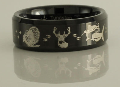 Turkey Deer Catfish Tungsten Ring