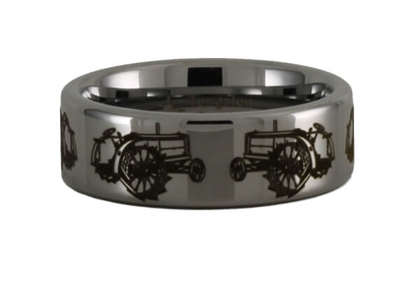 Antique Tractor Tungsten Ring