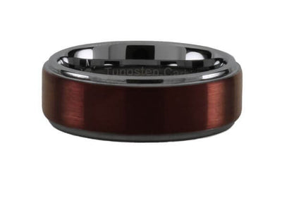 Tungsten Carbide Burgundy Step Ring