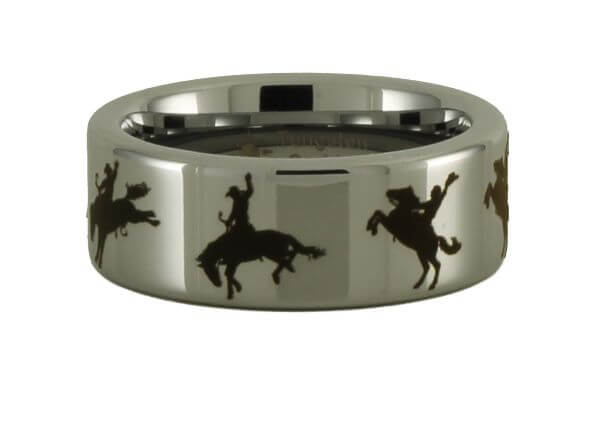 Tungsten Rodeo Horse Ring