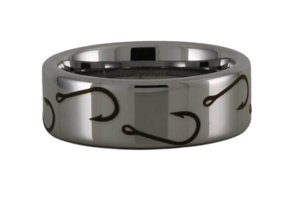 Tungsten Carbide Fish Hook Ring