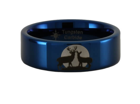 Buck and Doe Moon Ring