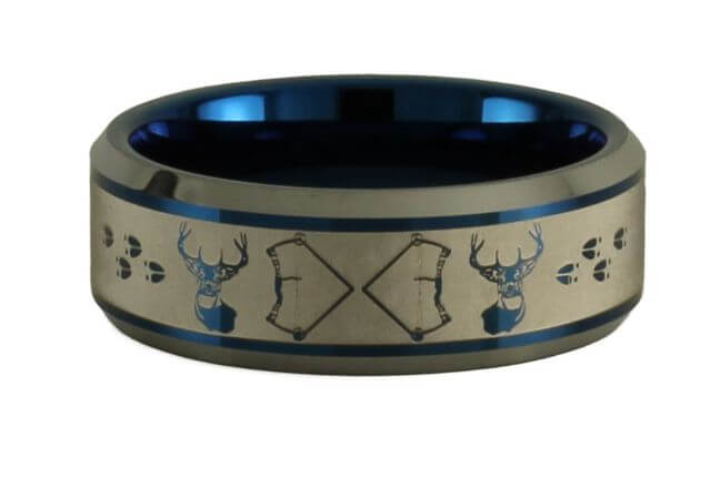 Bowhunting Buck Infinity Tungsten Ring