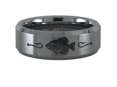 Tungsten Carbide Crappie Fish Ring