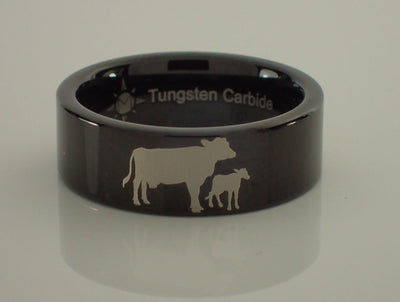Cow and Calf Tungsten Ring