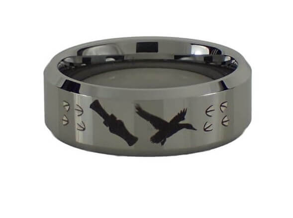 Duck and Duck Call Tungsten Ring