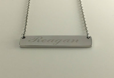 Personalized Bar Pendant Name Necklace