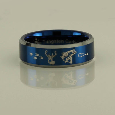 Tungsten Carbide Deer and Fish Ring