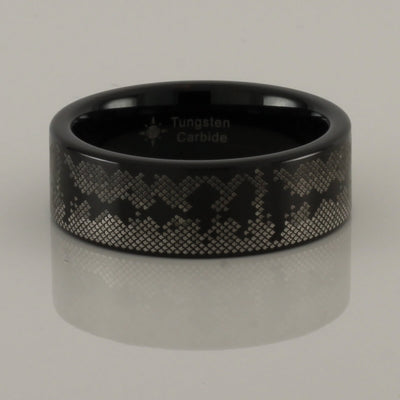 Tungsten Bass Pattern Ring