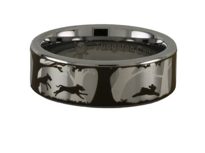 Dogs and Rabbit Tungsten Ring
