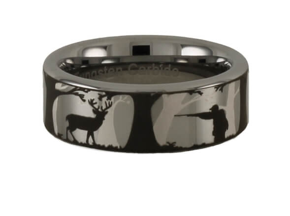 Tungsten Deer Hunting Ring