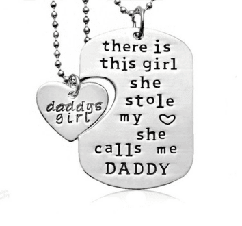 Father Daughter interlocking pendants