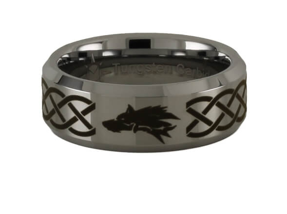 Tungsten wolf ring