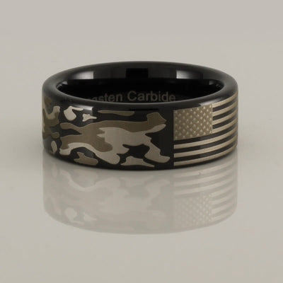 American Flag Camouflage Ring