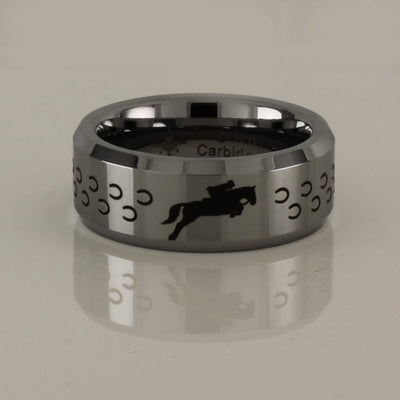 Tungsten Carbide Horse Jumping Ring