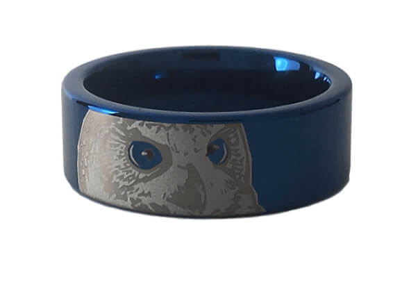 Tungsten Owl Ring