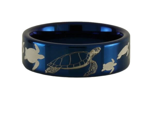 Sea Turtle Tungsten Ring