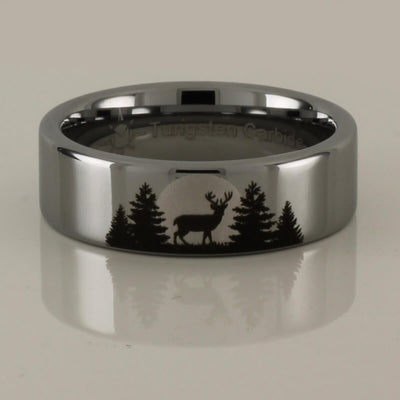 Buck Forest Scene ring