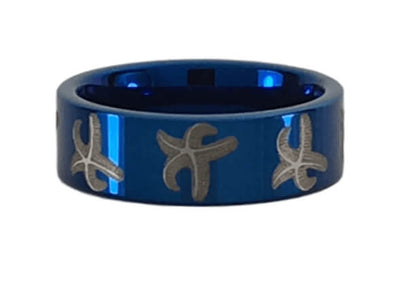 Tungsten Starfish Ring