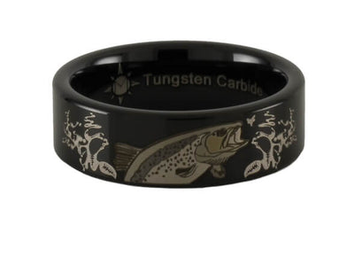 Trout Jumping Tungsten Ring