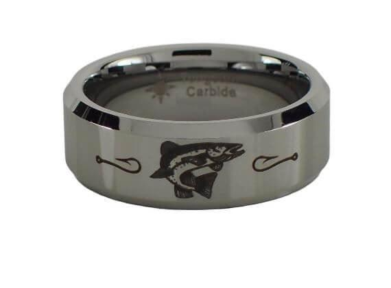 Tungsten Carbide Trout Ring