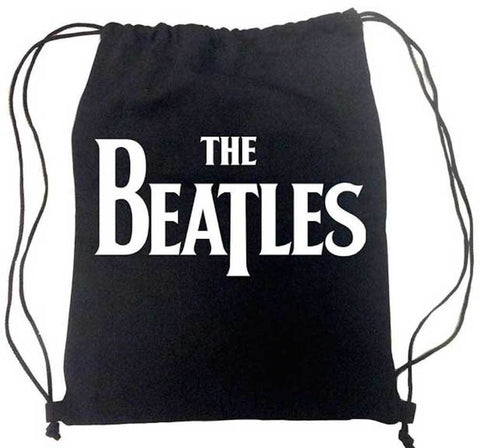 The Beatles Classic Logo Cinch Drawstring Backpack Bag New Licensed