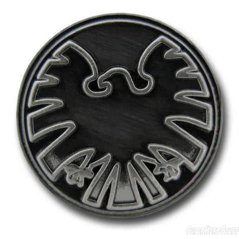 Marvel Comics Avengers Eagle Logo Pewter Lapel Pin With Loop to Wear as Necklace