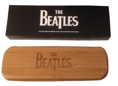 The Beatles Bamboo Licensed Pen Set in Decorative Box!  New Licensed