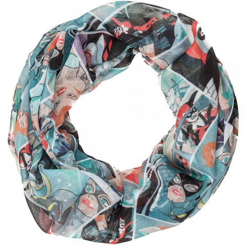 Harley Quinn, Poison Ivy, Catwoman, Batman Print Infinity Soft Polyester Scarf