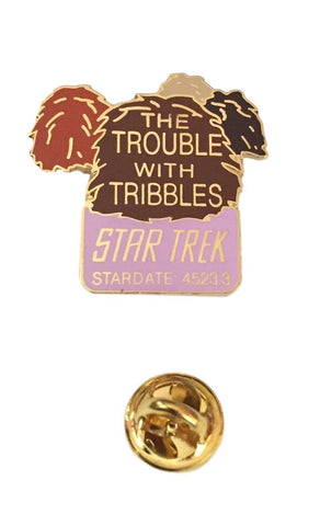 Star Trek The Original Series The Trouble With Tribbles Logo Enamel Metal Pin 1992
