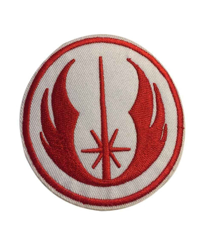 Star Wars Jedi Knight Star Fighter Red and White Logo Embroidered Iron On Patch