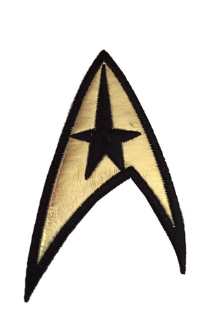 Star Trek Original Series Command Insignia Uniform Gold Iron On Patch