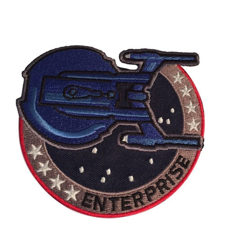 Star Trek Enterprise Logo and Ship Uniform Shoulder Embroidered Iron On Patch