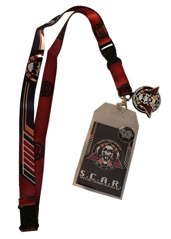 Call of Duty AWA S.C.A.R. Lanyard Keychain ID Holder Metal Charm and Sticker