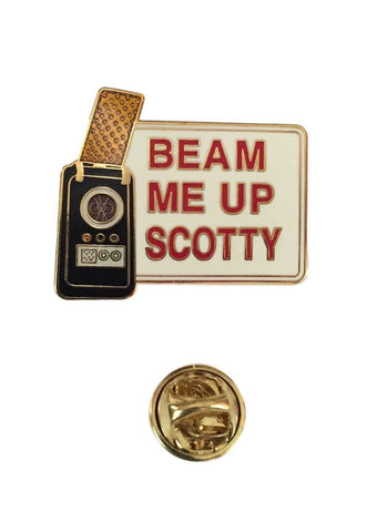 Star Trek Original Classic Series Beam Me Up Scotty Enamel Metal Cloisonne Pin