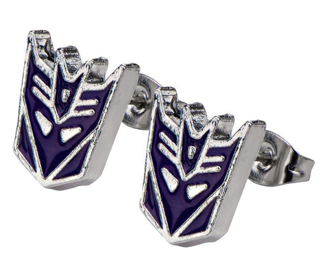 Transformers Decepticon Stud Stainless Steel Post Earrings 1 Pair
