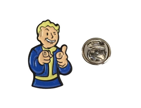 Fallout 4 Vault Boy Thumbs Up Enamel Finish Metal Pin