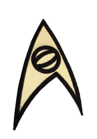 Star Trek Original Series Science Insignia Uniform Gold Iron On Patch