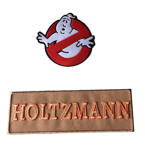 Ghostbusters New Movie No Ghost With Holtzmann Tan Name Tag Costume 2 Patch Set