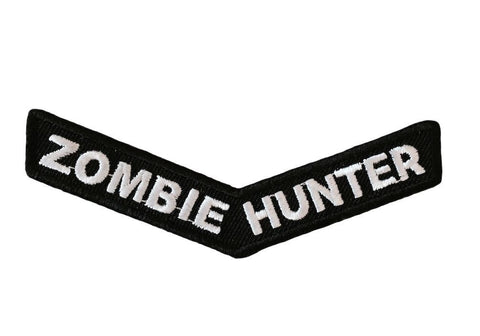 Zombie Hunter Boomerang Design Iron On Cosplay Biker Patch