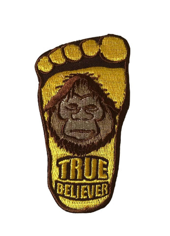 Bigfoot TRUE BELIEVER Embroidered Cosplay Biker Iron On Patch