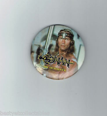 CONAN THE DESTROYER VINTAGE  PROMOTIONAL MOVIE  BUTTON