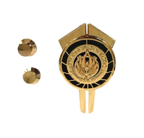 Battlestar Galactica BSG New Series Dress Uniform Command Logo Themed Metal Pin