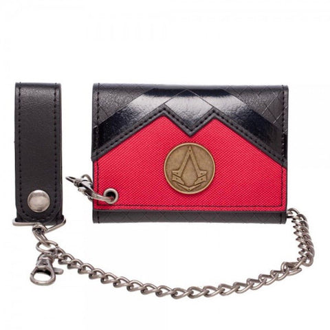 Assassin's Creed Tri Fold Snap Close Chain Wallet
