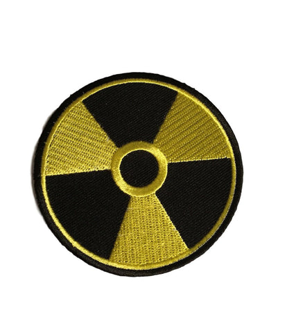 Radioactive Black and Yellow Sci Fi Novelty Embroidered Iron On Patch