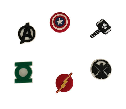 Avengers and More Superhero Refrigerator Magnets Set of 6 PVC Themed Magnets
