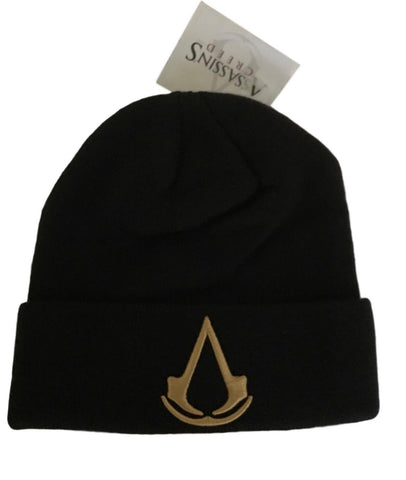 Assassin's Creed Embroidered Logo Knit Cuff Beanie Winter Hat