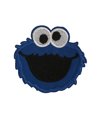 Cookie Monster Cartoon Embroidered Iron On Patch