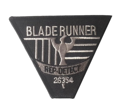 Blade Runner Rep Detect 4 Inch Wide Black Embroidered Iron On Costume Patch